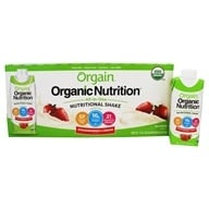 Orgain - Organic Ready To Drink Meal Replacement Strawberries and Cream - 12 Pack (851770003087)