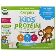 Orgain - Healthy Kids Organic Ready To Drink Meal Replacement Vanilla - 12 Pack by Orgain