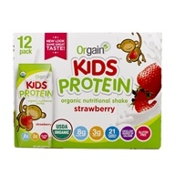 Orgain - Healthy Kids Organic Ready To Drink Meal Replacement Strawberry - 12 Pack by Orgain
