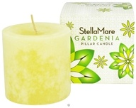 Stella Mare - Pillar Candle 3x3 Gardenia - 12 oz., from category: Aromatherapy