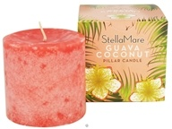 Stella Mare - Pillar Candle 3x3 Guava Coconut - 12 oz. by Stella Mare
