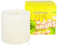 Stella Mare - Pillar Candle 3x3 Lilac - 12 oz., from category: Aromatherapy