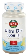 Kal - Ultra D-3 Lemonade 5000 IU - 120 Chewable Softgels (021245464631)