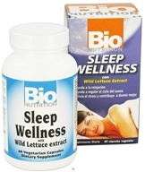 Bio Nutrition - Sleep Wellness with Wild Lettuce Extract - 60 Vegetarian Capsules, from category: Nutritional Supplements