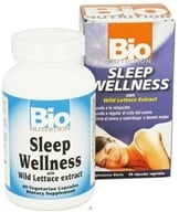 Image of Bio Nutrition - Sleep Wellness with Wild Lettuce Extract - 60 Vegetarian Capsules