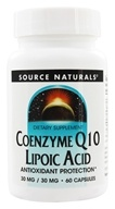Source Naturals - Coenzyme Q10 Lipoic Acid 30 mg. - 60 Capsules - $10.49