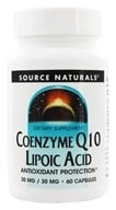 Image of Source Naturals - Coenzyme Q10 Lipoic Acid 30 mg. - 60 Capsules
