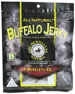 Golden Valley Natural - Natural Buffalo Jerky with Naturally Smoked Flavoring Original - 3 oz. (817820009102)