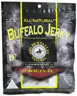 Image of Golden Valley Natural - Natural Buffalo Jerky with Naturally Smoked Flavoring Original - 3 oz.
