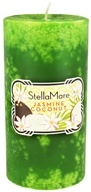 Image of Stella Mare - Pillar Candle 3x6 Jasmine Coconut - 21.6 oz.