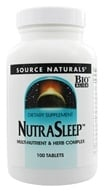 Source Naturals - NutraSleep Multi-Nutrient & Herb Complex - 100 Tablets (021078007500)