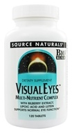 Source Naturals - Visiual Eyes Multi-Nutrient Complex with Bilberry Extract, Lipoic Acid & Lutein - 120 Tablets (021078000976)