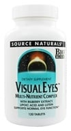 Source Naturals - Visiual Eyes Multi-Nutrient Complex with Bilberry Extract, Lipoic Acid & Lutein - 120 Tablets, from category: Nutritional Supplements
