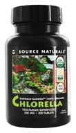Source Naturals - Emerald Garden Organic Chlorella Chlorophyll-Rich Superfood 200 mg. - 300 Tablets
