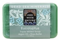 One With Nature - Dead Sea Minerals Triple Milled Bar Soap Eucalyptus - 7 oz. (812281010407)