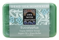 Image of One With Nature - Dead Sea Minerals Triple Milled Bar Soap Eucalyptus - 7 oz.
