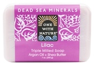 Image of One With Nature - Dead Sea Minerals Triple Milled Bar Soap Lilac - 7 oz.