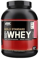 Optimum Nutrition - 100% Whey Gold Standard Protein Strawberry Milkshake - 3.32 lbs., from category: Sports Nutrition
