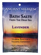 Ancient Secrets - Bath Salts From the Dead Sea Lavender - 4 oz.