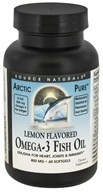 Image of Source Naturals - ArcticPure Omega-3 Fish Oil Lemon Flavored 800 mg. - 60 Softgels