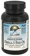 Source Naturals - ArcticPure Omega-3 Fish Oil Lemon Flavored 800 mg. - 60 Softgels