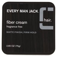 Image of Every Man Jack - Fiber Cream Matte Finish Firm Hold Fragrance Free - 2.65 oz.