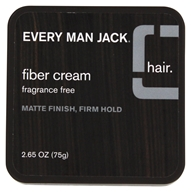 Every Man Jack - Fiber Cream Matte Finish Firm Hold Fragrance Free - 2.65 oz. by Every Man Jack