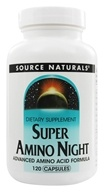 Image of Source Naturals - Super Amino Night Advanced Amino Acid Formula - 120 Capsules