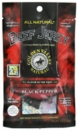 Golden Valley Natural - Natural Beef Jerky with Naturally Smoked Flavoring Black Pepper - 1 oz. (846547010016)