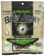 Golden Valley Natural - Organic Beef Jerky with Naturally Smoked Flavoring Black Pepper - 3 oz. (817820006217)