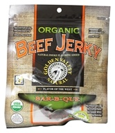 Golden Valley Natural - Organic Beef Jerky with Naturally Smoked Flavoring Bar-B-Que - 3 oz. (817820006248)