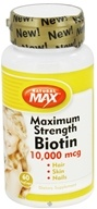 Natural Max - Maximum Strength Biotin 10000 mcg. - 60 Vegetarian Capsules - $9.99
