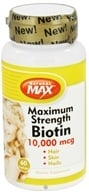 Natural Max - Maximum Strength Biotin 10000 mcg. - 60 Vegetarian Capsules
