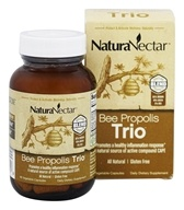 NaturaNectar - All Natural Bee Propolis Trio - 60 Vegetarian Capsules, from category: Nutritional Supplements