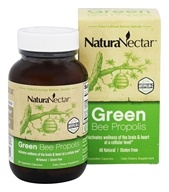 NaturaNectar - All Natural Green Bee Propolis - 60 Vegetarian Capsules by NaturaNectar