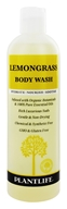 Plantlife Natural Body Care - Body Wash Lemongrass - 14 oz. by Plantlife Natural Body Care
