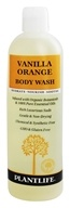 Plantlife Natural Body Care - Body Wash Vanilla Orange - 14 oz.