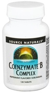 Image of Source Naturals - Coenzymate B Complex Sublinguals Peppermint - 120 Tablets