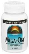 Image of Source Naturals - Mega-One Multi-Vitamin - 60 Tablets