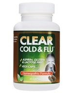 Image of Clear Products - Clear Cold & Flu Homeopathic/Herbal Relief Formula - 60 Capsules