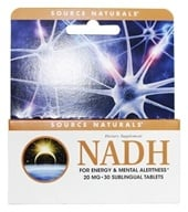 Image of Source Naturals - NADH 20 mg. - 30 Enteric-Coated Tablets