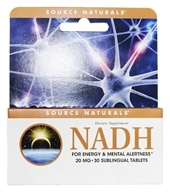 Source Naturals - NADH 20 mg. - 30 Enteric-Coated Tablets, from category: Nutritional Supplements