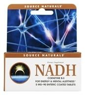 Image of Source Naturals - NADH 5 mg. - 90 Enteric-Coated Tablets