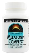 Source Naturals - Melatonin Complex Sublingual Peppermint Flavored 3 mg. - 100 Tablets