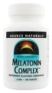 Image of Source Naturals - Melatonin Complex Sublingual Peppermint Flavored 3 mg. - 100 Tablets