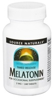 Image of Source Naturals - Melatonin Timed-Release 2 mg. - 240 Tablets