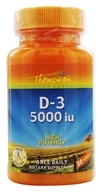 Thompson - Vitamin D-3 5000 IU - 30 Softgels - $2.99