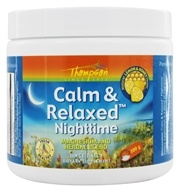 Thompson - Calm & Relaxed Nighttime Magnesium and Herbal Blend Lemon & Honey Flavor - 300 Grams by Thompson
