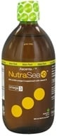 Image of Ascenta Health - NutraSea +D EPA & DHA Omega 3 Supplement With Vitamin D Apple Flavor - 16.9 oz.
