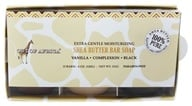 Out Of Africa - Shea Butter Extra Gentle Moisturizing Bar Soap Gift Pack Vanilla, Complexion, Black - 3 Bars